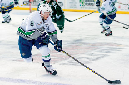 FORWARD PROGRESS: Former Taberite Cavin Leth is looking to bring a veteran presence to the Seattle Thunderbirds, in hopes of another deep WHL playoff run for the 2016/2017 season. TIMES PHOTO COURTESY OF BRIAN LIESSE/SEATTLE THUNDERBIRDS